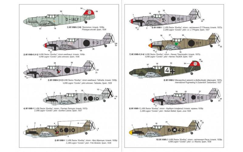 Modelsvit Models 1//48 MESSERSCHMITT Bf-109C-3 German WWII Fighter