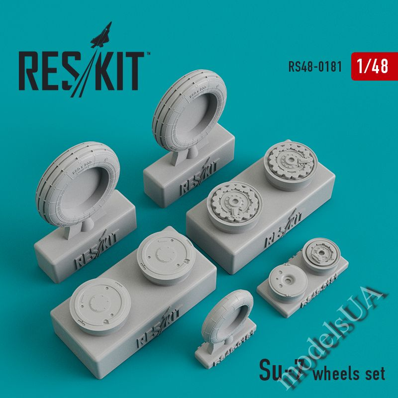 ResKit 48-0164 F-8 Crusader Type 1 wheels set resin wheels 1//48