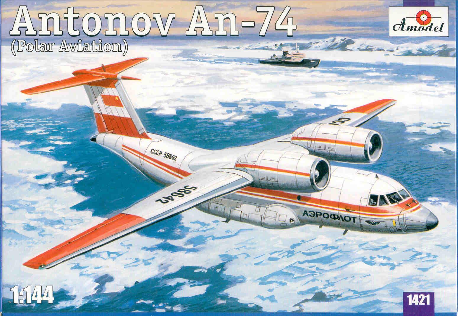 Antonov An-74 Polar 1/144 Amodel 1421 ...