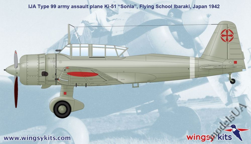Ki-51 Sonia IJA type 99 army assault plane 1//48 Wingsy Kits 48004