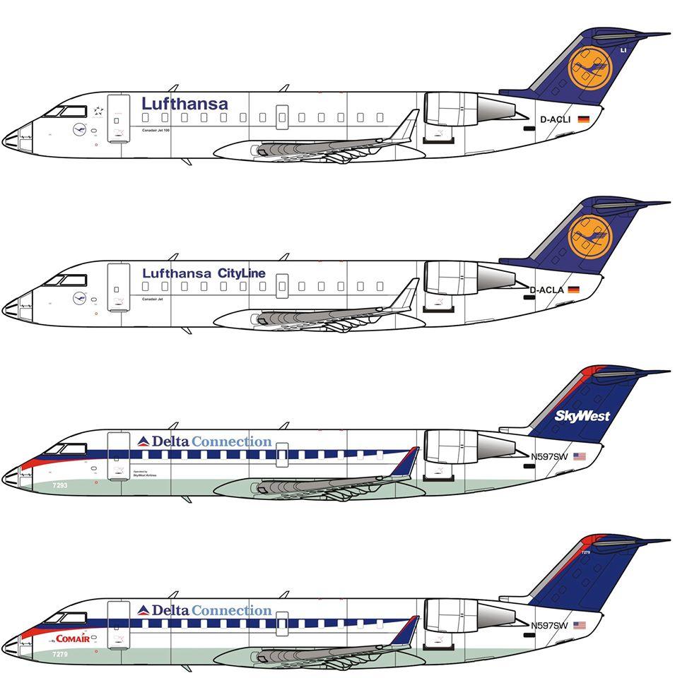 modelsUA > JETS 1:72 > Bombardier CRJ 100 Delta Connection