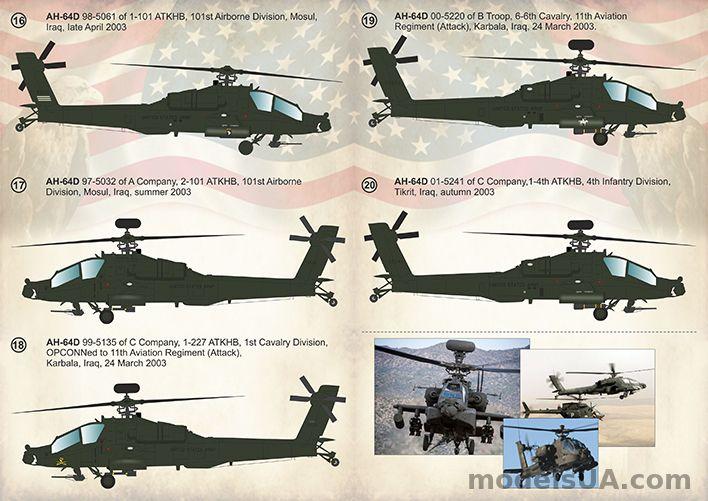 Print Scale Decals 1//72 McDonnell-Douglas AH-64 Apache # 72282