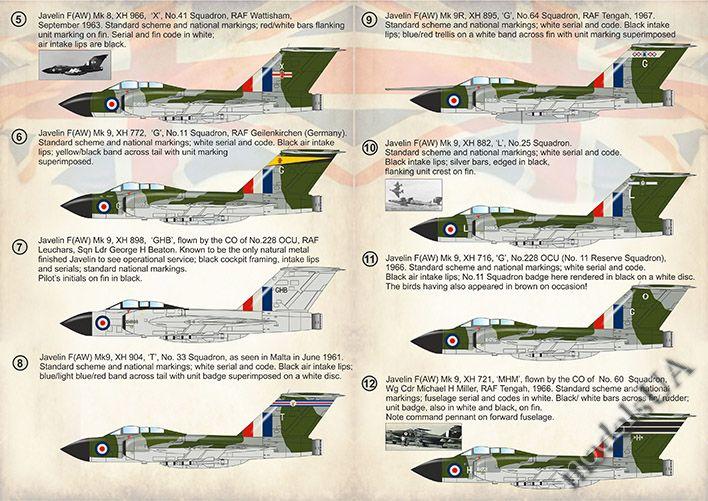 New Print SCALE DECALS 72370 1:72 Gloster Javelin Mk.1 Mk.2 partie 1
