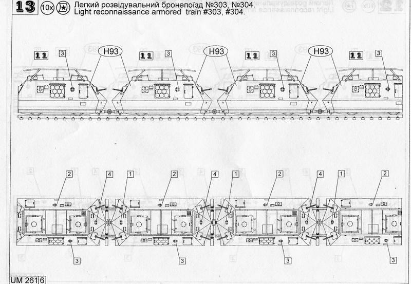 UNIMODELS 261 1//72 Reconnaissance armored train Le.Sp