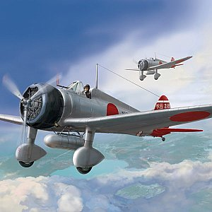 "Mitsubishi IJN Type 96 carrier-based fighter II A5M2b ""Claude"" (late version) 1/48 Wingsy Kits 48001"