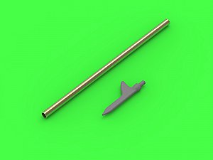 "US WWII Pitot Tube - ""Shark-fin"" type probe (1 pc) - used on P-36, P-39, P-40, P-47, A-36, B-239, T-6, B-25 and many more 1/72 MASTER AM-72-146"