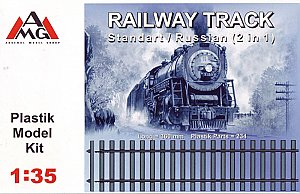 railway track, standart/russian (2 in 1) (length 360mm, 234 plastic parts) 1:35 AMG 35202