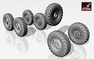 ZiL-131 wheels w/ M-93 tires (for ICM ZiL-131 kits) 1:72 ARMORY ARAC7257