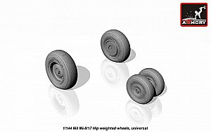 Mil Mi-8/17 Hip wheels, weighted 1:144 Armory ARAW14006