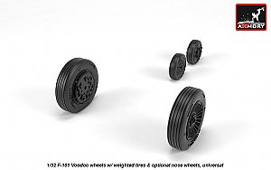 McDonnell F-101 Voodoo wheels w/ optional nose wheels & weighted tires 1:32 Armory ARAW32304