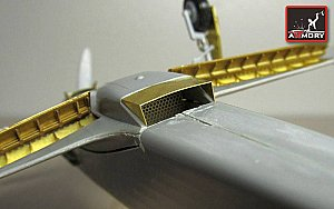 Yak-1b interior & exterior details photo-etched set (for Modelsvit kit) 1/48 Armory ARPEA4803