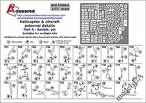 Helicopter & Aircraft external details. Part A – Aerials, etc. 1/72 A-Squared 72008a