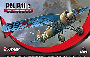PZL P.11c version with bombs 1:48 Mirage 481002