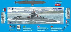 SSN-683 Parche (late version) special operations submarine 1:350 MikroMir 350-039
