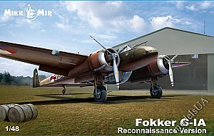 Fokker G-1A Dutch twin-engined heavy fighter (reconnaissance version) 1/48 Mikromir 48-018