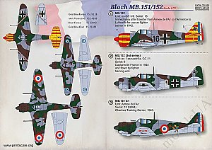 Bloch MB. 151 / 152 1:72 Print Scale 72320