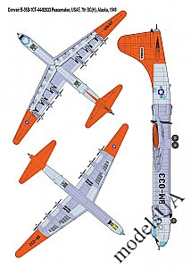 Convair B-36B Peacemaker (Early) strategic bomber 1:144 Roden 347
