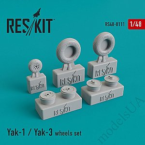 Yak-1 / Yak-3 wheels set 1:48 ResKit 48-0111