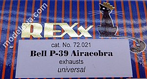 Bell P-39 Airacobra (univers) exhaust pipes 1/72 Rexx 72021