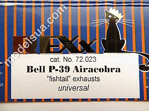Bell P-39 Airacobra (fishtail) exhaust pipes 1/72 Rexx 72023