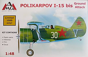 I-15 BIS Polikarpov Ground Attack 1/48 AMG 48303