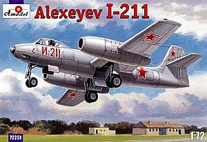 Alexeyev I-211 twin engined fighter 1:72 Amodel 72251