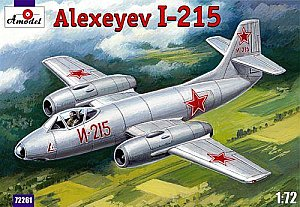 Alexeyev I-215 twin engined fighter 1:72 Amodel 72261