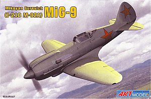 I-210 with M82A engine Mikoyan Gurevich (MiG-9) WWII fighter 1/72 Art Model 7207
