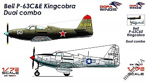 Bell P-63C&E Kingcobra Dual combo (2 in 1) 1:72 DORA Wings 7201-D