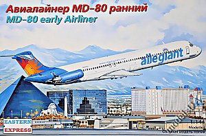 McDonnell Douglas MD-80 early Allegiant1:144 Eastern Express 144111
