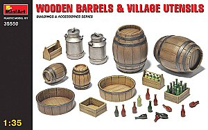 WOODEN BARRELS & VILLAGE UTENSILS 1/35 MiniArt 35550