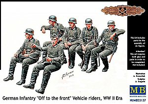 "German Infantry ""Off to the front"" Vehicle riders WWII 1:35 Master Box 35137"