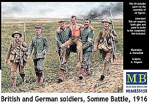Figur Handtohand Fight German und British infantrymen WWI era Master Box MB35116