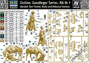 Neu Gunslinger series Kit No.1 Master Box MB35203-1//35 Outlow