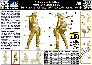 Pоst-apocalyptic fiction. Desert Battle Series.  Skull Clan – Long-distance raid. Kit №2.  A new leader. Hanna 1:35 Master Box 35214