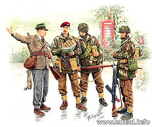 British paratroopers, 1944. Kit 1 1/35 Master Box 3533