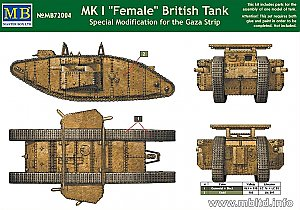 "MK I ""Female"" British Tank, Special Modification for the Gaza Strip 1:72 Master Box 72004"