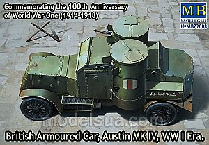 Austin MK IV British armoured car WWI 1:72 Master Box 72008