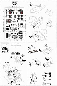 Polikarpov I-185 PE set 1/48 Metallic Details MD4801