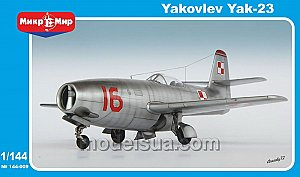 Yakovlev Yak-23 Flora (two sets in the box) 1:144 MikroMir 144-009
