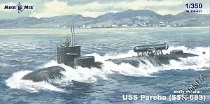 SSN-683 Parche (early version) special operations submarine 1:350 MikroMir 350-037