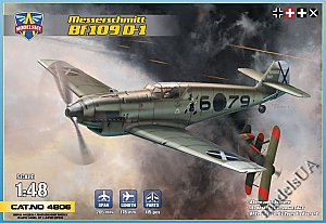 Messerschmitt Bf 109D-1 german WWII fighter 1/48 Modelsvit 4806