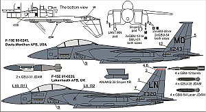 F-15E Freedom Eagles update set (incl. decal) 1:72 Olimp Resin Accessories 7244