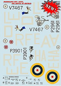 Hurricane Mk.I Aces The Battle Of Britain The complete set  1/32 Print Scale 32013
