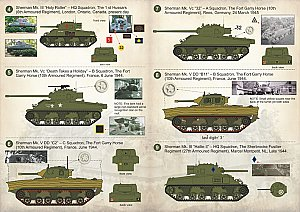 Shermans of the 2nd Canadian Armoured Brigade 1:35 Print Scale 35004