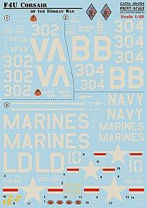 Print Scale Decals 1//48 VOUGHT F4U CORSAIR IN THE KOREAN WAR