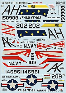 Vought F-8 Crusader Part 1 complete set 1:48 Print Scale 48139