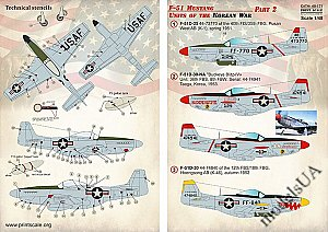 F-51 Mustang. Units of the Korean War, Part 2 1:48 Print Scale 48171