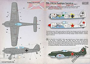 Focke-Wulf Fw 190 in Foreign Service Part 1 1/72 1:72 Print Scale 72393