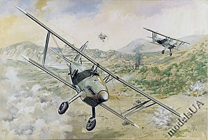 Arado Ar 68 E biplane fighter 1/48 Roden 427